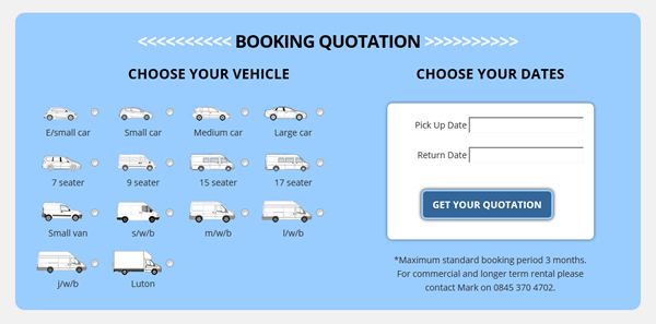 Thurrock Car and Van Rental Screen Shot