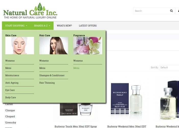 E commerce – Luxury Cosmetics online